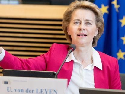 European Commission President Ursula von der Leyen in Brussels.