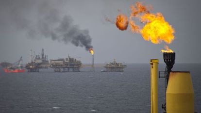 Pemex installations in the Gulf of Mexico.