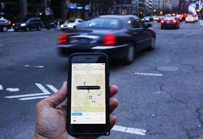 An Uber user in Washington.