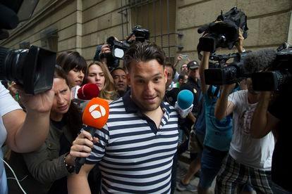'La Manada' member José Ángel Prenda outside court in 2018.