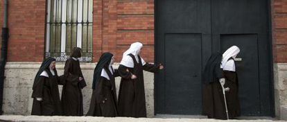 The oldest nun at the Valladolid convent, 89, now lives with girls as young as 18.