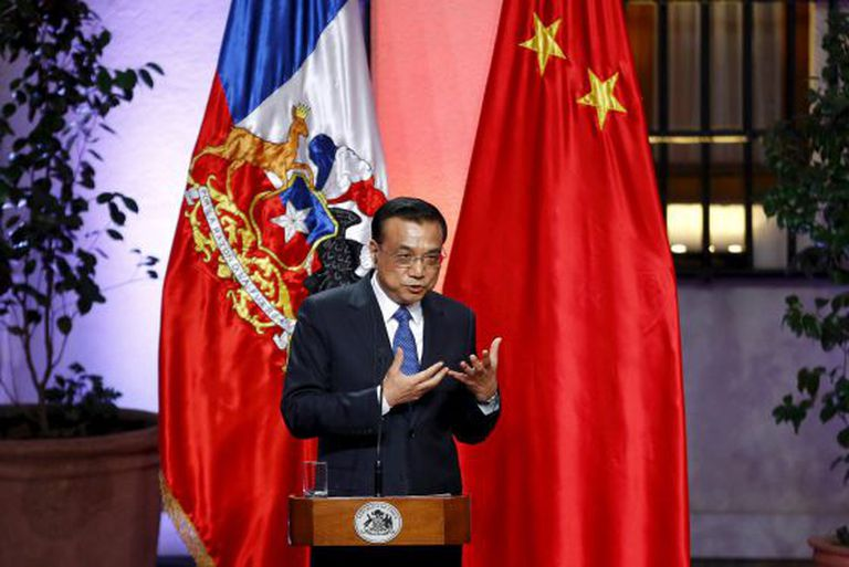 Prime Minister Li Keqiang during his visit to Chile.