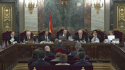 Jordi Turull addressing the Supreme Court on Tuesday.