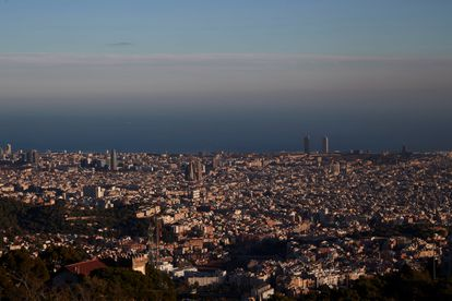 Air pollution in Barcelona.