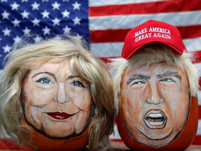 Portraits of the candidates painted by John Kettman from De La Salle, Illinois.