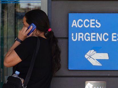 The entrance to the ER at Arnau de Vilanova hospital in Lleida on Tuesday.