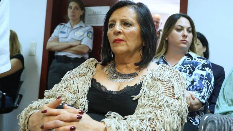 María Pilar Abel during the trial.