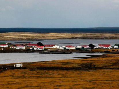 Goose Green, the Falkland Islands' second city.