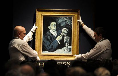 'The Absinthe Drinker' by Pablo Picasso, on sale at Christie's in London.