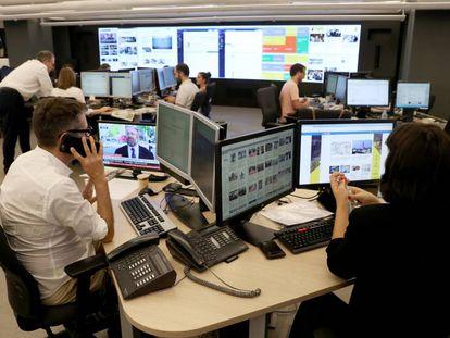 The EL PAÍS newsroom.