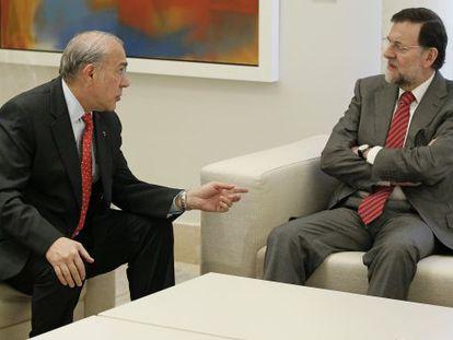 Gurría and Rajoy in a file photo.