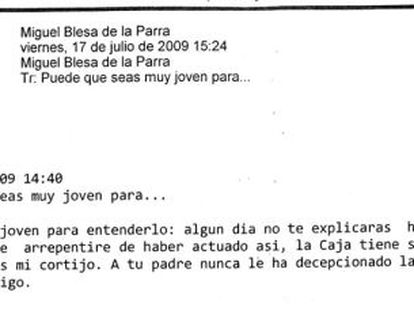 A copy of one of the 8,000 messages in the court's possession.