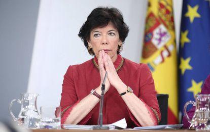 Spanish Education Minister Isabel Celaá.