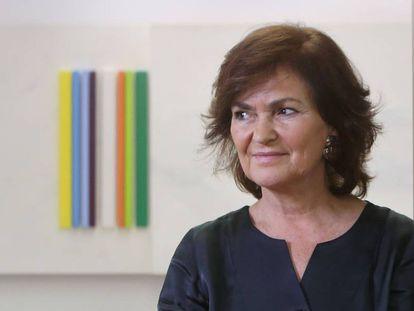 Deputy Prime Minister Carmen Calvo.