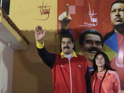 Venezuelan President Nicolás Maduro and first lady Cilia Flores.