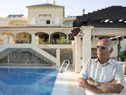 The Kuwaiti Salem Al Marzouk in his Marbella home.