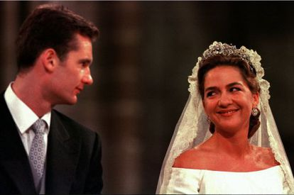 The royal couple's wedding on October 4, 1997, in Barcelona.