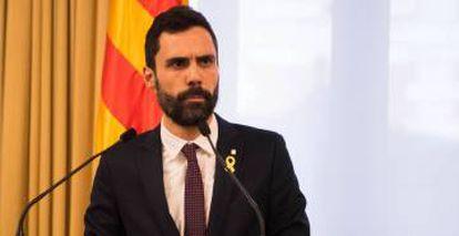 Catalan house speaker Roger Torrent.