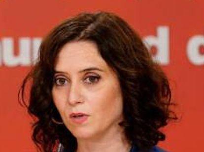 Madrid regional premier Isabel Díaz Ayuso, of the Popular Party.