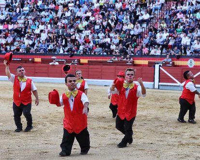 A show of bullfighting dwarfs run by the comedy troupe Diversiones en el Ruedo.
