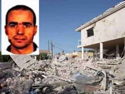 The explosion in Alcanar. Photo of iman Abdelbaki es Satty.
