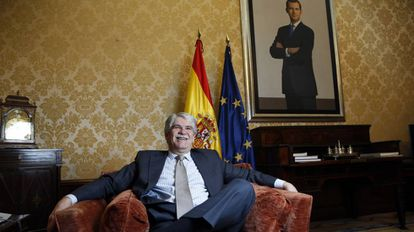 Alfonso Dastis during the interview in his office at the Spanish foreign ministry.