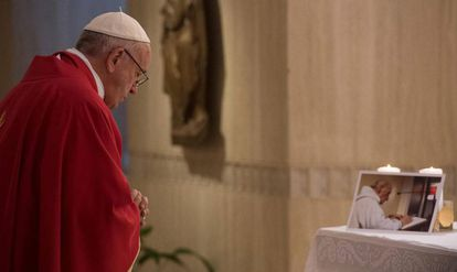 Pope Francis in the Vatican this Wednesday.