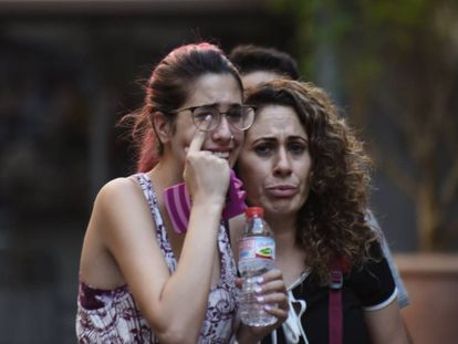 Bystanders caught up in Thursday's events in Barcelona.