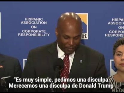 President and CEO at Hispanic Association on Corporate Responsibility Cid Wilson makes a statement about Donald Trump.