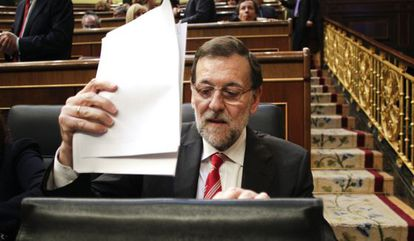 """Prime Minister Mariano Rajoy says """"things are going well."""""""