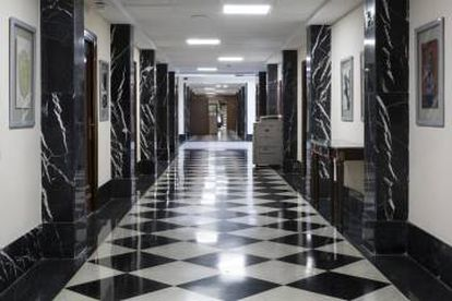 A hallway in the Prime Ministerial Ministry.