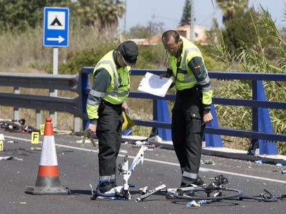 The scene of last week's accident in Oliva (Valencia).