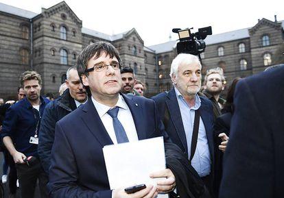 Former Catalan premier Carles Puigdemont in Copenhagen.