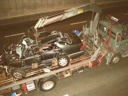The Mercedes that Lady Diana was traveling in on the night of the crash.