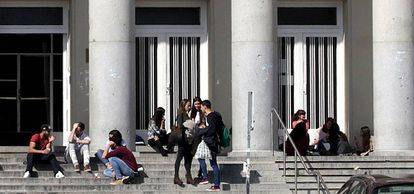 Students at Complutense University in Madrid.