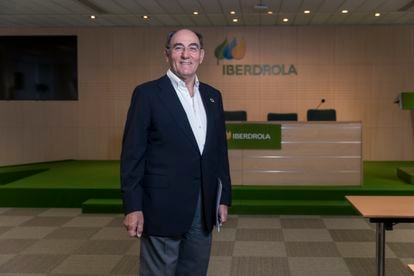 Ignacio Galán, at Iberdrola's headquarters after the interview.