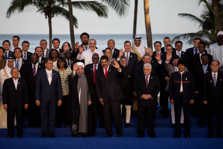 Venezuela's President Maduro with his guests at the Non-Aligned Movement Summit.