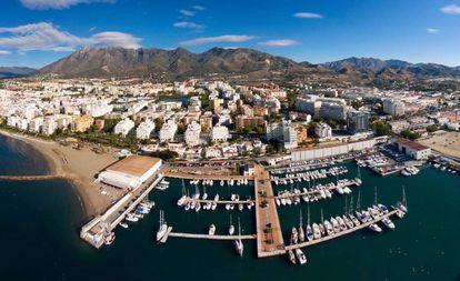 Aerial view of Marbella (Málaga).