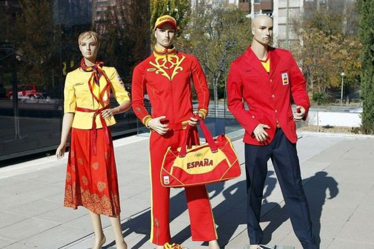 Russian firm BoscoSport's proposed designs for the Spanish Olympic team uniforms.