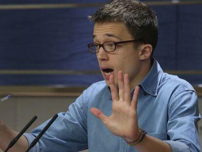 Podemos spokesman Íñigo Errejon.