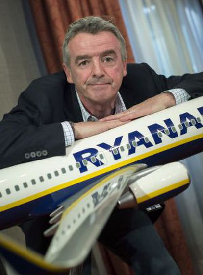 Ryanair CEO Michael O'Leary, during a press conference held in Madrid last month.
