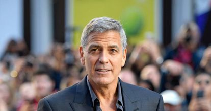 """George Clooney attends the premiere of """"Suburbicon"""" in Toronto."""