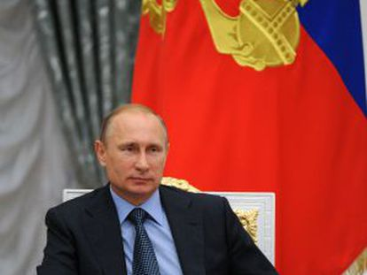 Russian President Vladimir Putin in the Kremlin.