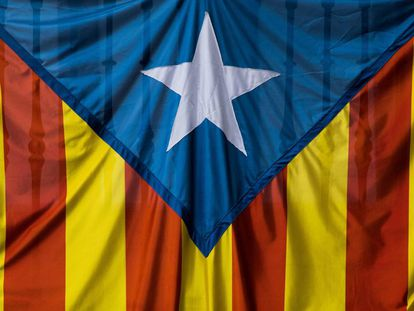 A Catalan Pro-Independence flag.