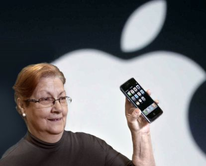 Recreation of Steve Jobs presenting the first iPhone.