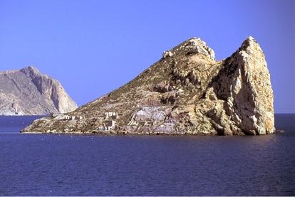 Fraile Island off the coast of Águilas, in Spain's Murcia region.