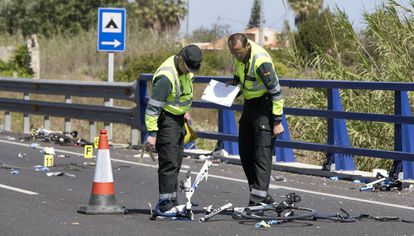 The scene of last week's accident in Oliva (Valencia).