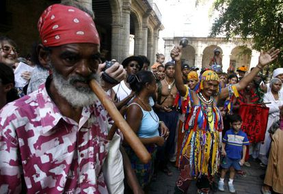 A celebration in Havana in 2007 marking the emancipation of slaves.