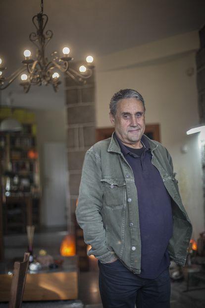 Esteban Cabal, last week at his home in Galapagar in the Madrid region.