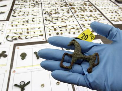 Some of the pieces recovered by the Civil Guard as part of Operation Helmet.